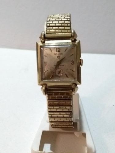 Antiguo Reloj Gruen Cuerda Decada 1940 /50 Con Service
