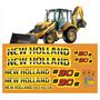 Adesivos Retroescavadeira New Holland B90b B90 B Completo Mk