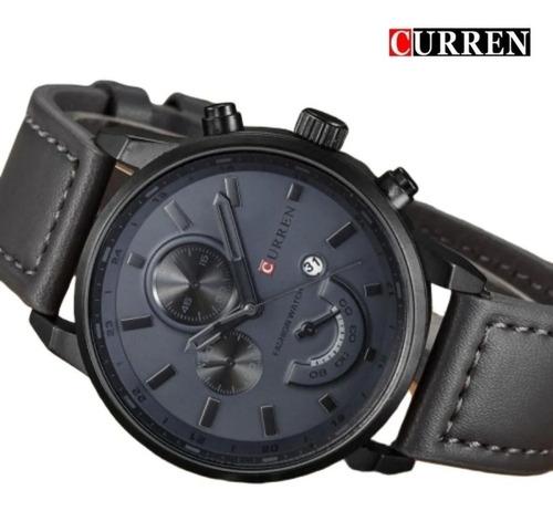 Relógio Luxuoso Curren Pulseira Couro Frete Grátis Brasil