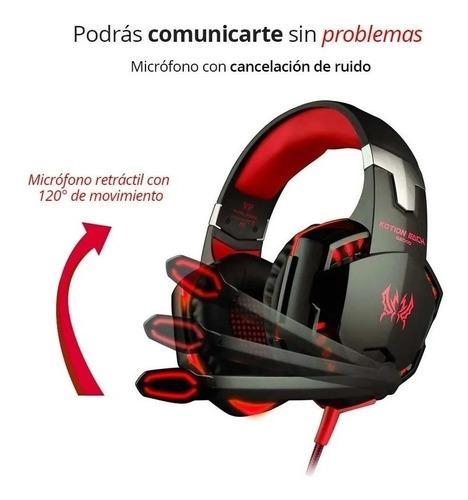 Headband Gamer Ps4 Xbox One 3.5mm Pc Laptop Red Headphones - Ecart