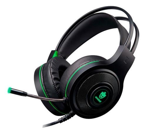 Fone De Ouvido Gamer Evolut Têmis Eg301 Preto/verde