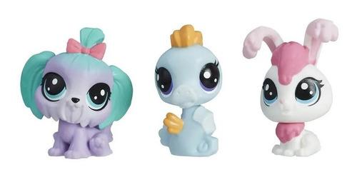 Little Pet Shop X 3 Figuras Cara Jan Pete Hasbro