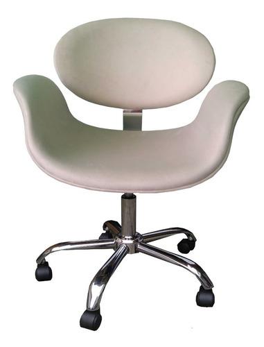 Cadeira Tulipa C/ Reg. De Altura, Estrela Cromada E Rodinhas