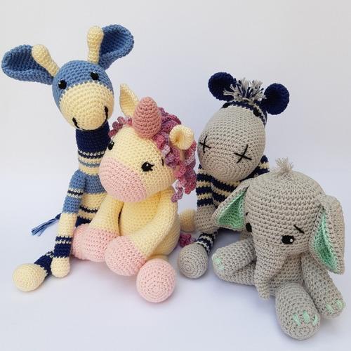 Animalitos Juguete Crochet Peluche  Apego Amigurumi
