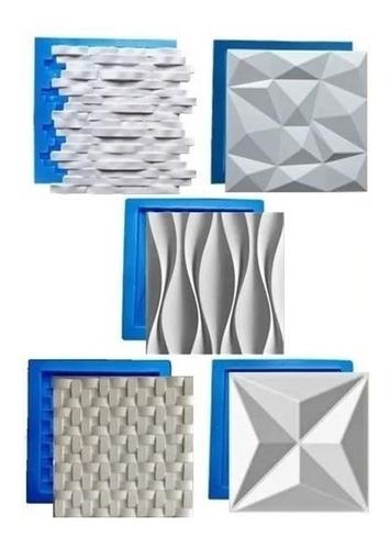 5 Formas De Gesso 3d E Cimento Abs 1,3mm Com Eva Monte O Kit