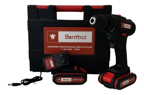 Furadeira Parafusadeira Benttoz 21v 2 Baterias P/entrega Nf