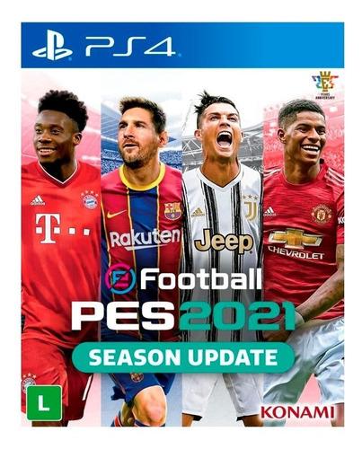 Pes 2021 Efootball Pro Evolution Soccer Ps4 Mídia Física +nf