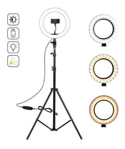 Ring Light Iluminador 8 Polegadas + Tripé2.1m/suporte Celul