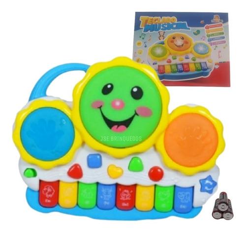 Teclado Piano Musical Bebê Brinquedo Infantil+pilhas Brinde