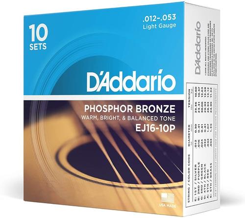 Daddario Cuerdas Para Guitarra Acustica /electroacustica 012