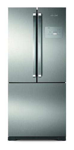 Heladera A Gas No Frost Whirlpool Wro80 Inox Con Freezer 541l 220v