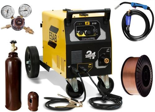 Maquina De Solda Inversora 30-200a 220v Esab Compactmig 215i