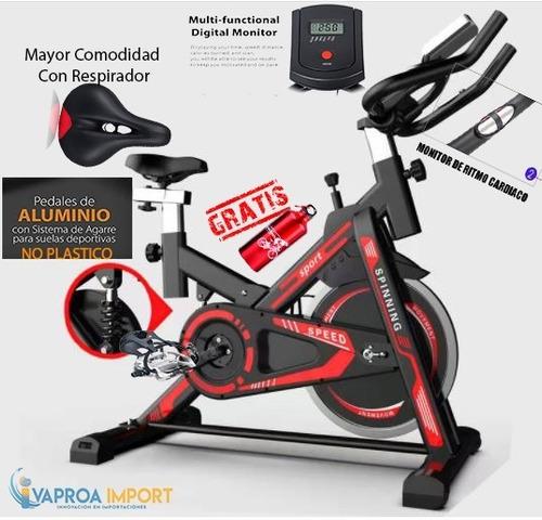 Bicicleta Estática Spinning+monitor+ Pedal Aluminio+ergonomi