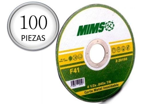 Disco Corte Acero 4-1/2 Inoxidable Y Metal Paquete 100 Pieza