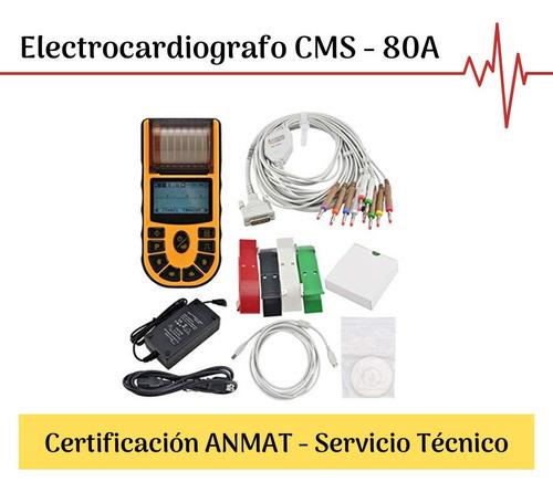 Electrocardiograma Cms-80a Portátil - Cardiopeco