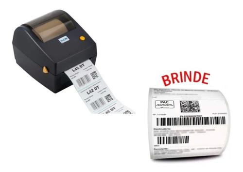 Impressora De Etiqueta Termica S/ Ribbon Elgin L42dt