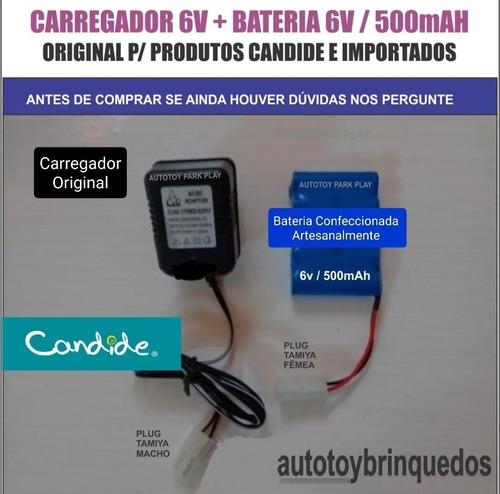 Bateria 6v 500mah + Carregador 6v  (tamiya)