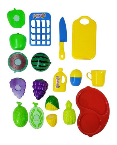 Kit Frutas Com Velcro 13 Peças - Envio Imediato