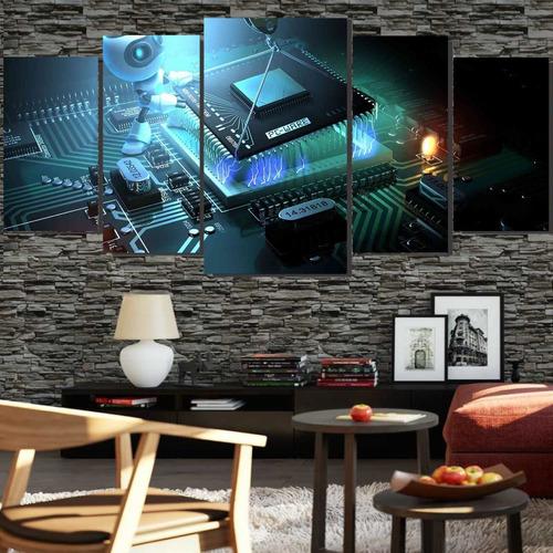 Quadros Decorativo Instalação Processador  128x60 Lindo N3
