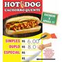 Banner Hot Dog Lanchonete Cachorro Quente Escreve E Apaga