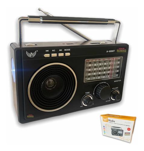 Radio Para Zona Rural 11 Faixas Pendrive Am/fm Recarregável