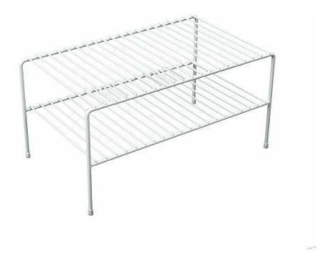 Double Shelf For Closet, Large Nickel Large Double