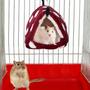 A Gaiola De Suspensão Triangular Do Pássaro Da Rede Do Hamst