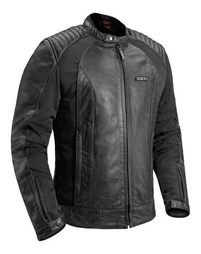 Jaqueta Couro Texx Storm Preta Moto Casual Com Protetor