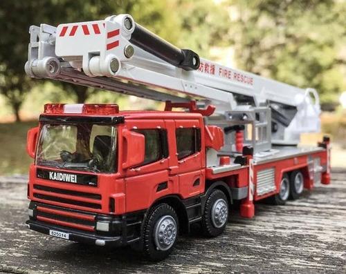 Caminhão Bombeiros Metálico Colecionador Enfeite Mesa Ferro