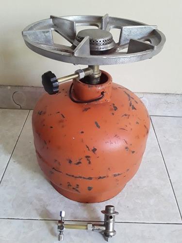 Cocina Portatil Con Hornilla Butsir Y Bombona Rexaica 3 Kg
