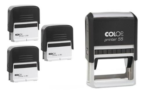 Kit Carimbos Automáticos - 3 Carimbos Printer 20 + 1 Cnpj