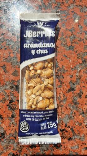 Barra De Cereal Crocante Sabor Arandanos Con Chia Pack X 12u