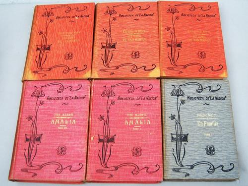 Hay 6 Lotes X 6 Libros Bib'teca Diario La Nacion 1909 -envío