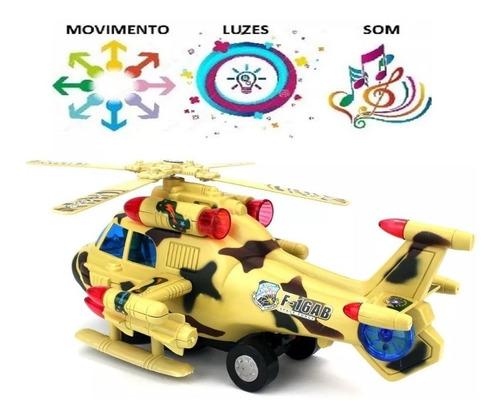 Helicóptero Bate E Volta Som E Luzes Brinquedo Selo Inmetro