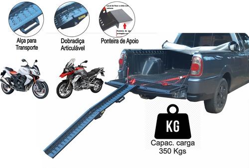 Rampa Para Subir Moto Caçamba Strada Cab. Simples Dobrável