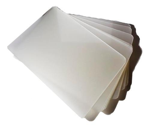 Láminas Para Plastificar Pouch  Tamaño Carnet  Paquete X 50
