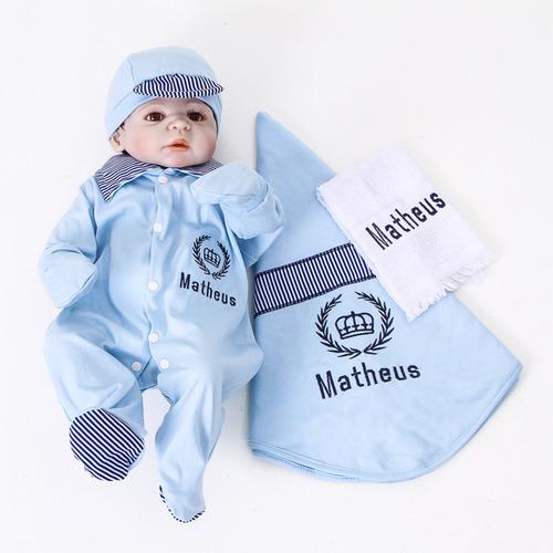 Saída De Maternidade Personalizado Com Nome Para Menino