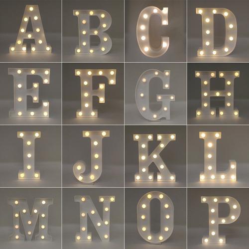 Letra Luminária Led 3d Decorativa Festa  + Pilha Grátis