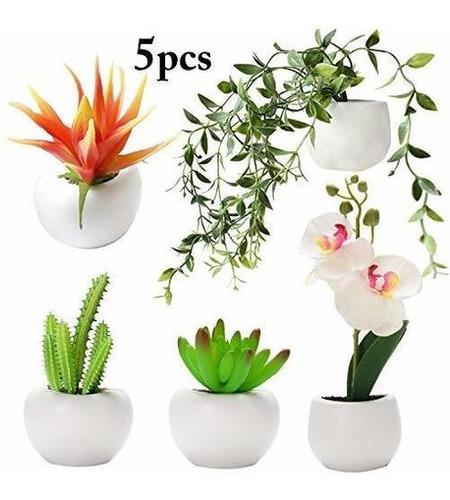 Justdolife Refrigerador Imán, Flores Artificiales Plantas