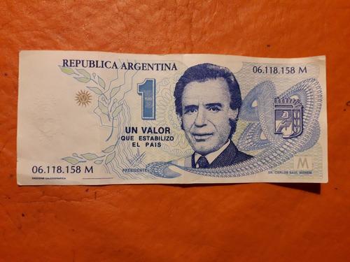 Billete Carlos Saúl Menem