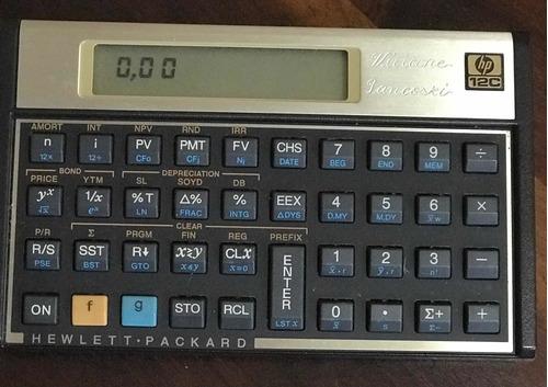 Calculadora Hp 12c Gold Semi Nova