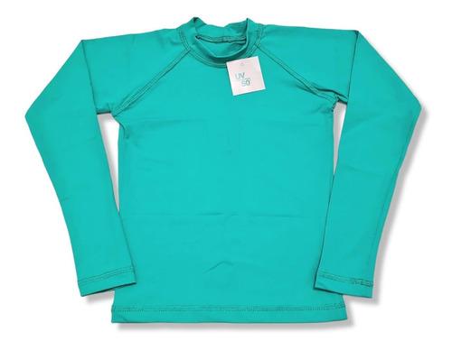 Blusa Camisa Proteção Uv50+ Infantil  Cores Lisas