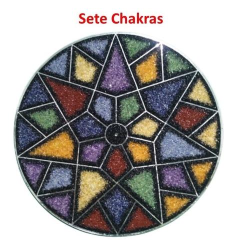 Painel Mandala Parede Em Pedras Chacras - 45cm.frete Grátis.
