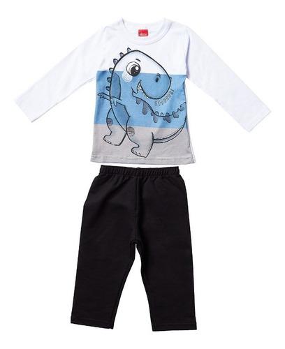 Conjunto Masculino Infantil Camiseta/calça Elian