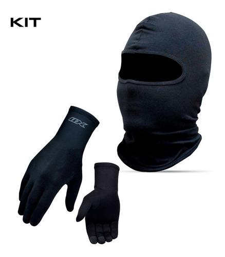 Kit Toca Ninja Balaclava Luva Motoqueiro X11 Termica