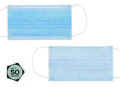 Mascarillas Descartables Importadas De 3 Capas, Caja 50 Unid