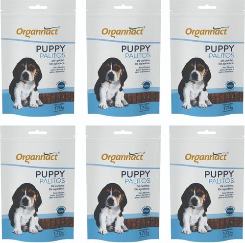 6 X Puppy Palitos 170g Sache Organnact 170 G