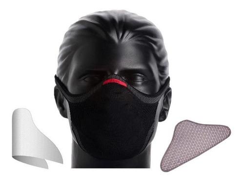 Kit 2 Máscara Fiber + 60un Refil + 2 Suporte + 2 Clip Nasal