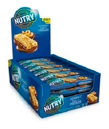 Barra De Cereal Nutry 1 Caixa/ 24 Unid Sabor Variados