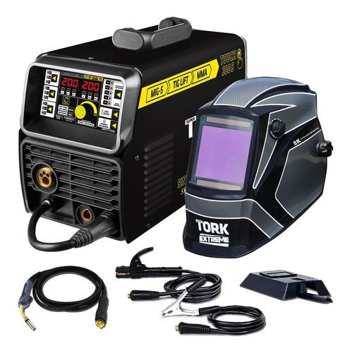 Maquina Solda Inversora Mma Mig Tig 200 Amperes 3 Em 1 Tork